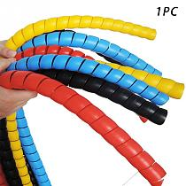 8mm 2m Line Organizer Pipe Protection Spiral Wrap Winding Cable Wire Protector Cover Tube #30