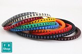 500PCS EC-0  Size 1.5 sqmm Colored Cable Wire Marker 0 to 9 For Cable