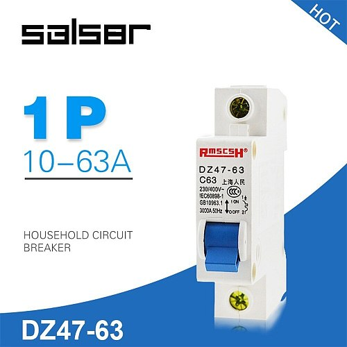 DZ47-63 1P 1A-63A Household Atmosphere Switch Short Circuit Protect Type Small-sized Circuit Breaker