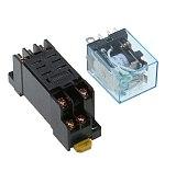 10Pcs Relay LY2NJ AC12V 24V 36V 48V 110V 220V 380VSmall relay 10A 8 Pins Coil DPDT With Socket Base