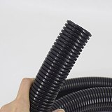 1m 6.5mm-20mm PA nylon flame retardant plastic bellows waterproof wire hose can be opened PP Corrugated tube auto car corrugated