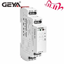 Free Shipping GEYA GRM8  Impulse Relay AC230V or AC/DC12V-240V Latching Relay Din Rail Electronic Type