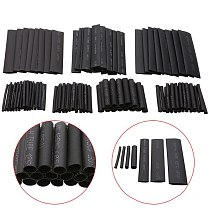 127PCS Black 7 Sizes Cable Sleeve Kits Heat Shrink Tubing Set Assorted Wrap Wire or Home Flame Retardant Electric Cable Tube
