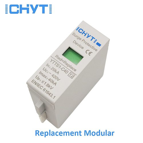 ICHYTI High quality SPD replace modular AC 275V 385V 420V surge protector lightning protection surge arrester