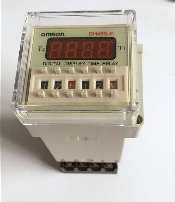 Digital display time relay DH48S DH48S-S cycle control relay 0.1S-99H 8PIN with base DC12V/24V/36V/AC110V/220V/380V