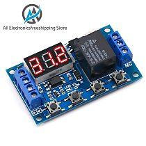 DC 6-30V Support Micro USB 5V LED Display Automation Cycle Delay Timer Control Off Switch Delay Time Relay 6V 9V 12V 24V