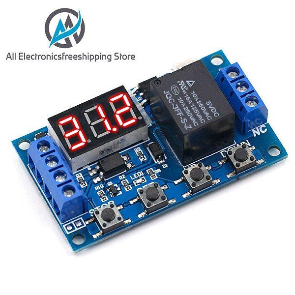 DC 6-30V Support Micro USB 5V LED Display Automation Cycle Delay Timer Control Off Switch Delay Time Relay 6V 9V 12V 24V
