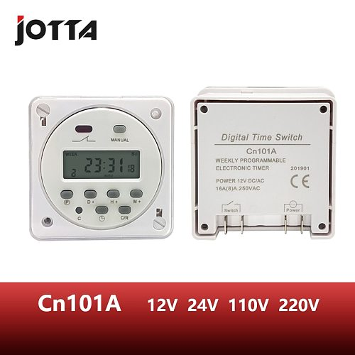 CN101A LCD time switch 12V 24V 110V 220V Time Relay Street lamp billboard power supply timer with waterproof box