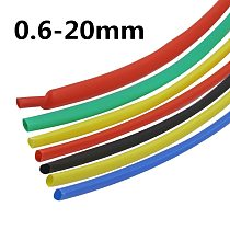 10meter 2:1 7Colors 0.6mm 0.8mm 1mm 1.5mm 2mm 2.5mm 3mm 3.5mm 4mm 4.5mm 5mm Heat Shrink Heatshrink Tubing Tube Wire Dropshipping