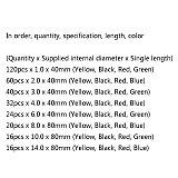 328PCS/Lot 5 Colors 8 Sizes Assorted 2:1 Flame-retardant Bagged Heat Shrink Tubing Kit