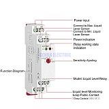 Liquid Level Control Relay 10A AC/DC24-240V Liquid Water Level Controller GRL8