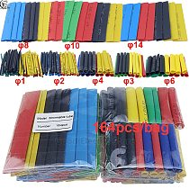 164pcs Set Polyolefin Shrinking Assorted Wire Cable Insulated Sleeving Tubing Set Heat Shrink Tube