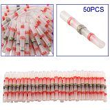 Economical 50Pcs Soldering connector with Shrink Tube Electrical Wire Splice Insulated Welding Terminals ds99