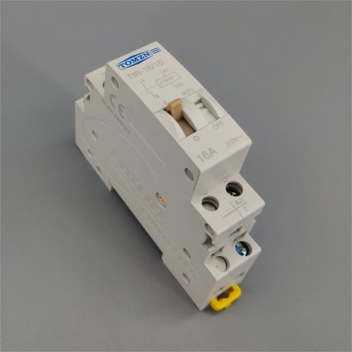 TOMZN Impulse Relay Household Electric Pulse Control Relay Auto Control Relay 16A 230VAC 110VDC 220V AC for Lighting Circuit TIR