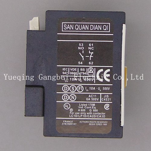 contactor Auxiliary block F4-11,1NO+1NC The auxiliary contact LA1DN11