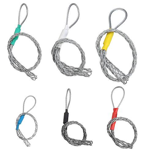 Galvanizing Metal Cable Socks Antislip Pipe Conduit Cable Puller wire grips Pull Net Cover Accessory For 4-25mm