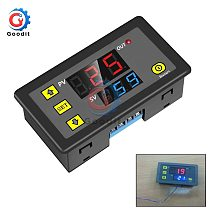 LED Digital Time Delay Relay AC 110 220V DC 12V LED Display Cycle Timer Control Switch Adjustable Timing Relay Time Delay Switch