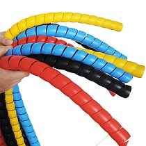 8mm 2m Spiral Cable Protector 8mm Line Organizer Pipe Protection Spiral Winding Cable Wire Cover Tube Drop Shipping #1206