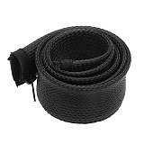 Dropship1M Zipper Cable Sleeve Flexible nylon Wire Cable Management organizer Wire Cord Hider Protection black white gray
