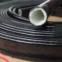 1Meter 4-70mm Dia Black High Temperature Resistant Fire Retardant Casing Pipe Thicken Insulation Silicone Fiberglass Tube