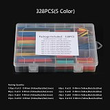 Color Heat Shrink Tubing Boxed Insulation Heat Shrinkable Tubes Assortment Sleeving Electronic Polyolefin Wire Cable Sleeve Kit