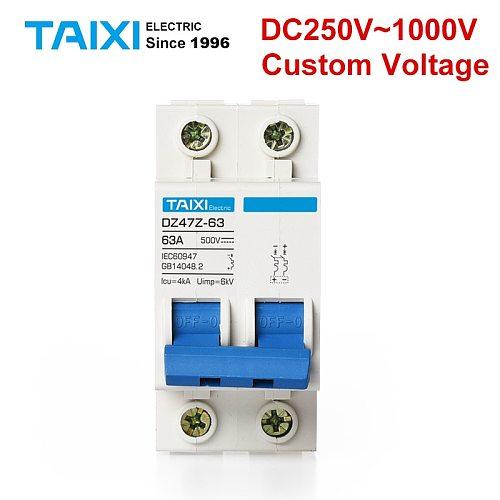 Solar energy PV MCB DC 1000V Miniature Circuit Breakers 2P 60A 500V 600V photovoltaic power generation Switch 63A 50A 40A 32A