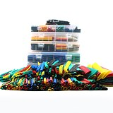 127pcs Heat shrink wrap tube sleeve black electronic diy kit Insulation Sleeving Assorted Tubing Wire Cable set pasacables