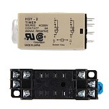 1pcs H3Y-2 Time Relay AC 220V Delay Timer Time Relay 0 - 30 Minute/Seconds with Base Time Relay 220 V For Arduino Delay Relays