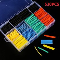530pcs/280/170/560/580pcs Heat Shrink Tubing Insulation Shrinkable Tube Assortment Electronic Polyolefin Wire Cable Sleeve Kit