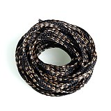 10M Braided Expandable Cable Sleeve 4-20mm Insulation Wire Wrapper Gland Cables Protection Sheathing Insulation Black&Gold
