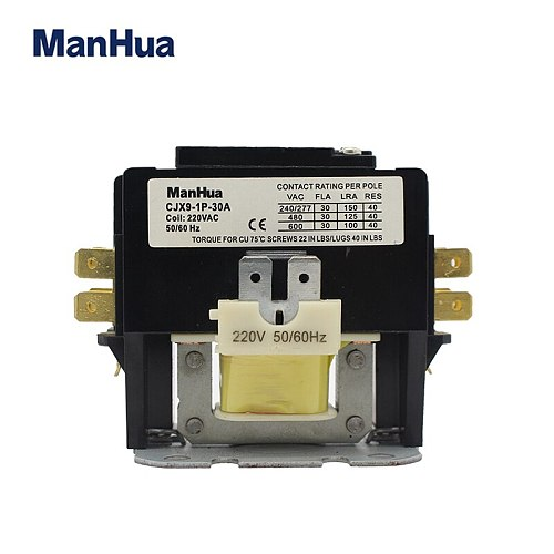 Manhua High Quality  Single Phase 220V CJX9 Contactor For Air Condition Ac Contactor Elevator Magnetic Contactor