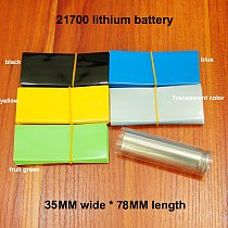 100pcs/lot 21700 lithium battery PVC heat shrinkable sleeve package shrink film battery outer packaging tube film