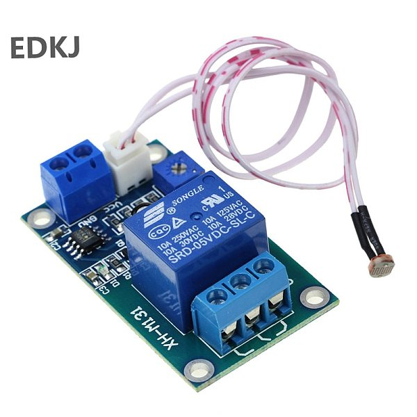 1pcs XH-M131 DC 5V 12V 10A Light Control Switch Photoresistor Relay Module Detection Sensor brightness Automatic Control Module