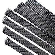 10M Cable Sleeve black Wire Protection PET Nylon Cable Sleeves wire cable Braided Cable Sleeve 2/4/6/8/10/12/16/18mm