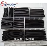 140Pcs 1MM 2MM 3MM 4MM 5MM 6MM 8MM 10MM 12MM Assortment Ratio 2:1 Polyolefin Heat Shrink Tube Tubing Sleeving Wire Cable Kit