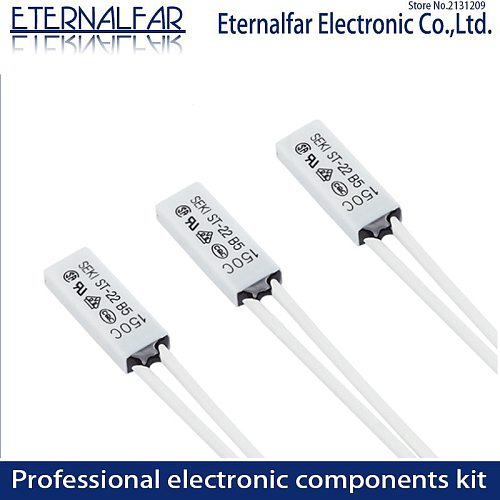 SEKI Heat Protector ST-22  Thermal Cut Offs 50 55 60 65 70 80 90 95 100 110 125 150 Degrees Normally Closed 5A 250V Fuse control