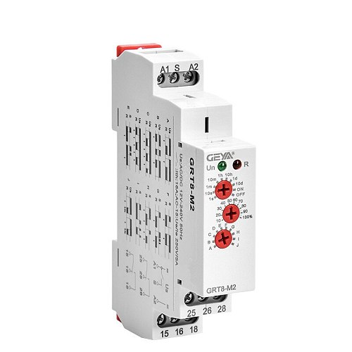 Multi Function Time Relay 16A Din Rail Type 10 Function Adjustable Timer 12V-240V AC DC