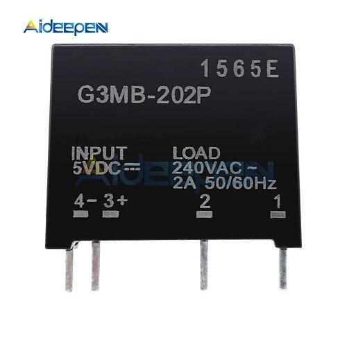 5Pcs/lot Time Delay Relay Module G3MB-202P G3MB 202P DC-AC PCB SSR In 5V 12V 24V DC Out 240V AC 2A Solid State Relay Module