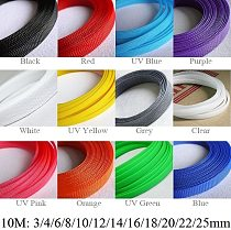 10M Cable Wire Sleeve 3mm 4mm 6mm 8mm 10mm 12mm 14mm 16mm 18mm 20mm 22mm 25mm PET Braided Expandable Nylon Insulation Wire Wrap