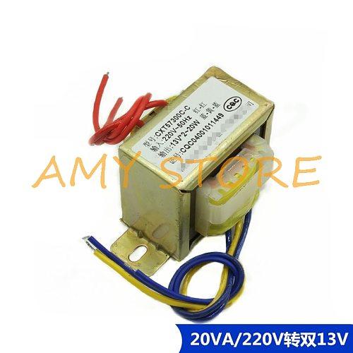 EI57*30 AC13V-0-13V 0.8A Output 20W 20VA EI Ferrite Core Input 220V 50Hz Vertical Electric Power Transformer