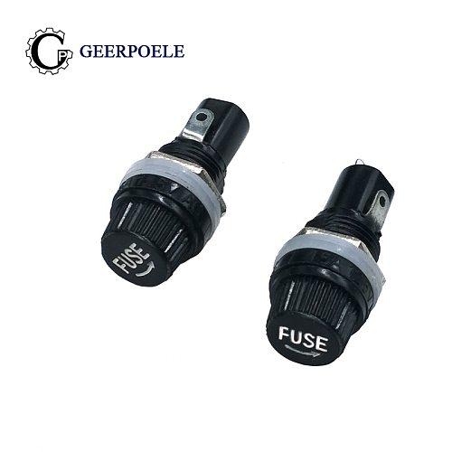 20pcs 50pcs 100pcs 5*20mm 6*30 10A 250V Glass Fuse holders 5x20 Black Insurance Tube Socket Panel Mount Fuse Socket Copper