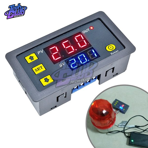 AC 110V 220V DC 12V 24V Adjustable Digital Time Delay Relay LED Display Cycle Timer Control SwitchTiming Relay Time Delay Switch