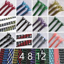 Colorful 4 8 12mm Expanded Braid Sleeve PP Cotton Mixed PET Yarn Soft Wire Wrap Insulated Cable Protection Line Harness Sheath