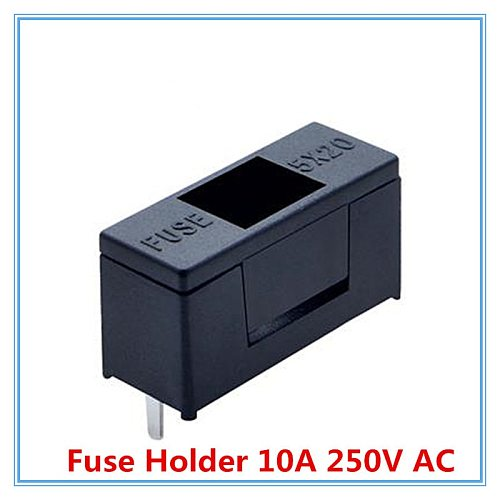 20pcs/lot 5*20mm Glass Fuse Holders 5x20 Black, Insurance tube socket Fuse Holder 10A 250V AC.