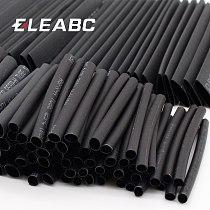 127pcs/lot Heat Shrink Tubing 7.28m 2:1 Black Tube Car Cable Sleeving Assortment Wrap Wire Kit with Polyolefin Tub
