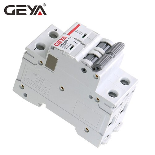 GEYA Din Rail DC MCB 6KA 2P 500V Mini Circuit Breaker DC 6A 10A 16A 20A 25A 32A 40A 50A 63A