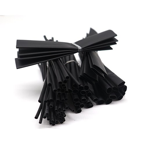 100Pcs/Set Heat Shrink Tube Retractable Term For Isolation Electronic Kits Wire Wrap Protector Cable Electric Black