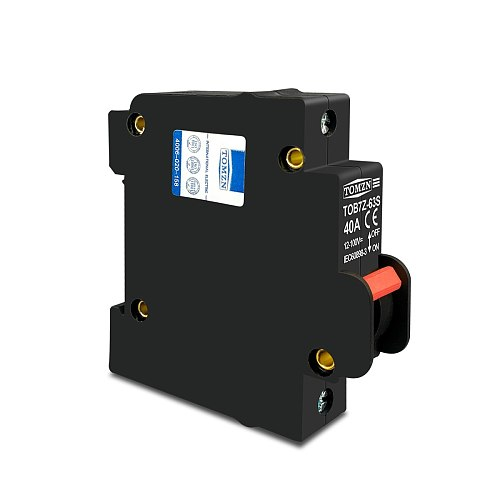hydrautic magnetic type DC MCB circuit breaker 12V to 100V 32A 40A TOMZN TOB7Z-63S