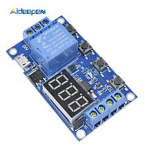 DC 5V 12V 24V LED Light Digital Time Delay Relay Trigger Cycle Timer Delay Switch Circuit Board Timing Control Module DIY