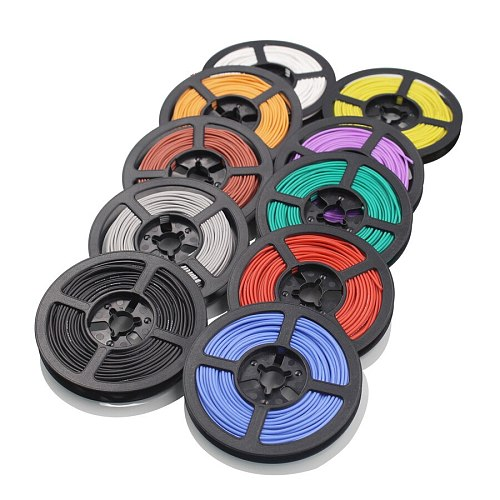 10 meters 26AWG flexible silicone wire and cable tinned copper wire stranded wire 10 color optional DIY wire connection